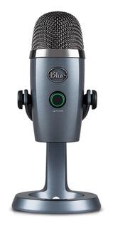 Micrófono Blue Condensador Yeti Nano Estudio Podcast Gris