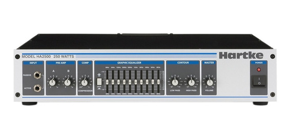 Hartke Ha2500 Cabezal Amplificador Pre Valvular Para Bajo