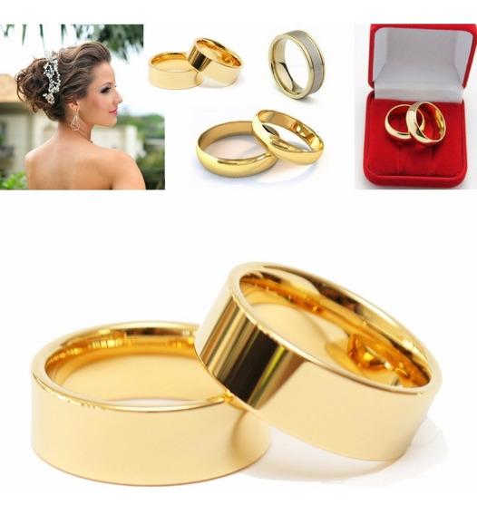 Par De Alianças Casamento Noivado Cor Ouro Moedas Antigas