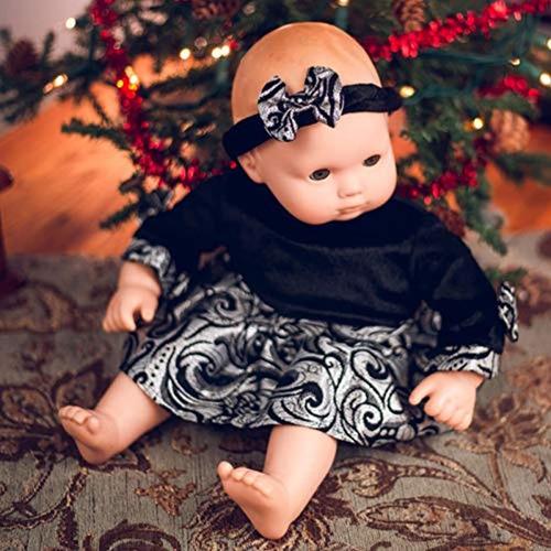 Imagen 1 de 6 de Ropa Para Muñecas Vestido De Fiesta Elegante Con Diadema