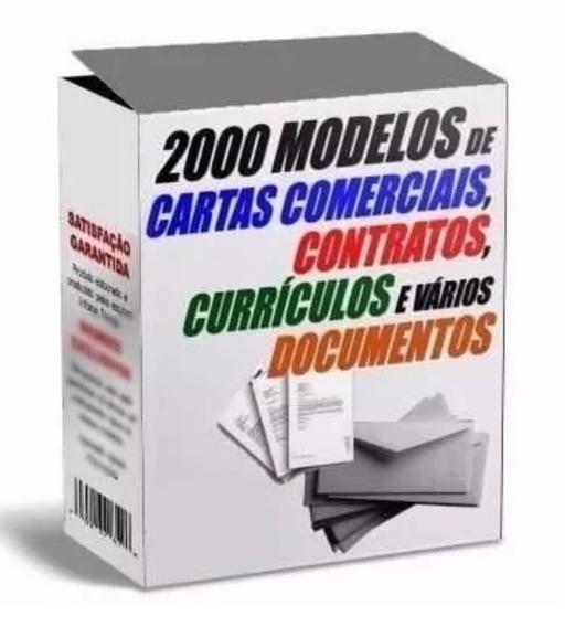 2000 Modelos De Cartas Comerciais, Pessoais E Contratos