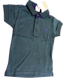 c94f579b64 Camiseta Pólo Infantil Masculina Tamanho 1 Verde Elian