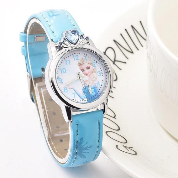 Relógio Infantil Frozen Disney Pedra Coração - Único No Ml