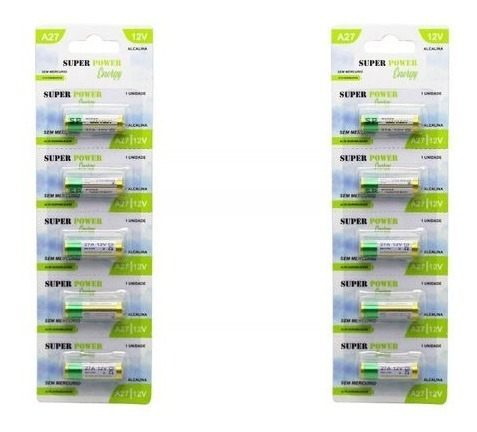 Bateria Pilha Alkaline 27a 12v Com 5 Peças