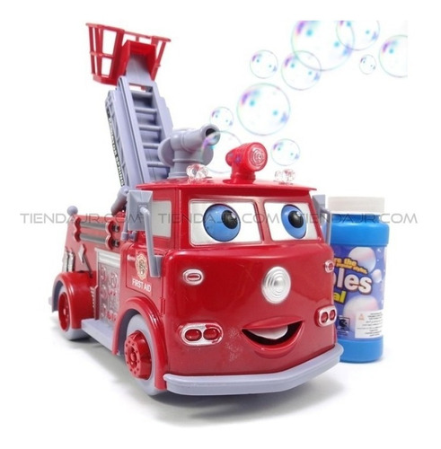 Carro De Bomberos Burbujero Lanza Burbujas