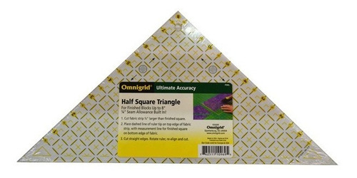 Triángulo De Medio Cuadrado De 8 PuLG. Omnigrid Quilt