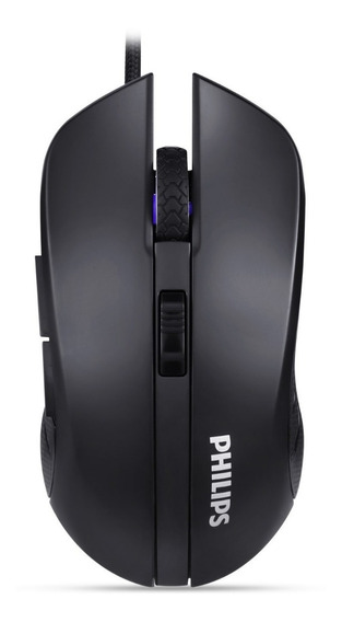 Mouse Philips Gamer Jogo Rgb Usb 2.0 C/ Fio 2400 Dpi Spk9313
