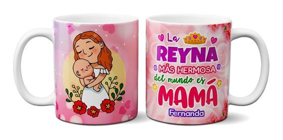 Tazas Para El Día De Las Madres Con Nombres 11oz (2pzas)