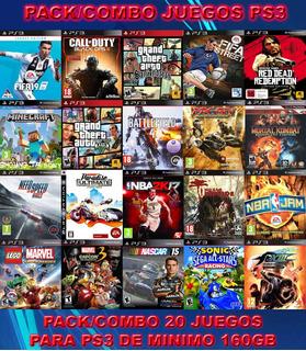20 Juegos Digital Ps3 Fifa 19 Gta V Minecraft Battlefield