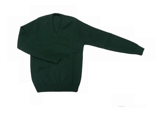 Sweater Sueter Niño Niña Colegial Azul Verde Scote T6 A 16