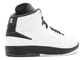 Zapatos Jordan Air 2 Retro Bg Big Kidøs Blanco / Negro / Gr