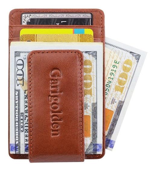 Clip Para Billetes Cartera Billetera Unisex Antirobo Rfid