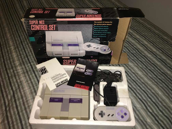 Super Nintendo Snes Completo Na Caixa Tudo Original