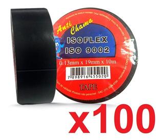 100 Fita Isolante Isoflex 19mm X 10m Anti Chama