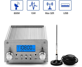 Fm Broadcast Transmitter, Elikliv 15w Lcd Pll Wireless Radio