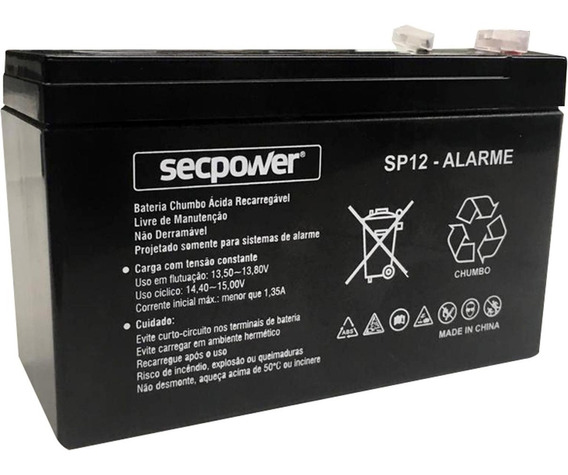 Bateria Selada 12 Vts 7 Ap - Alarme, Cerca, Cftv, Nobreak
