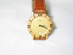 Rélogio Natan Swiss Caixa Dourada Mod 71249 Original Raro!