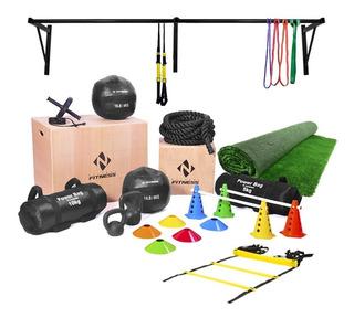 Kit Acessórios Academia Box Crossfit Funcional Completo