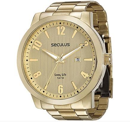 Relógio Masculino Seculus Long Life 28751gpsvda2= 03