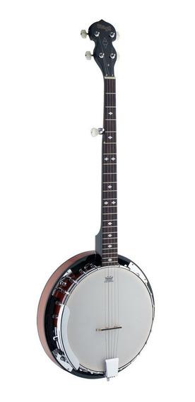 Stagg Bjw24dl Banjo Bluegrass 5 Cuerdas Resonador Caoba