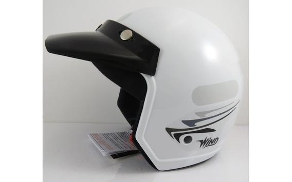 Capacete Moto Aberto Wind V2 Speed Lines Branco Tam 58