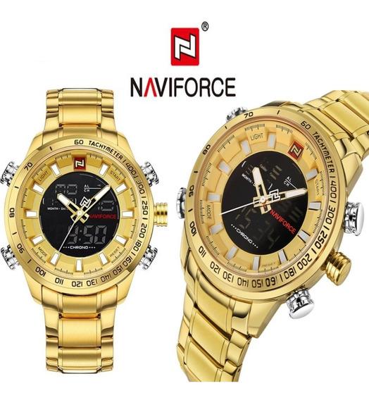 Relógio Naviforce 9093 Masculino A Prova D