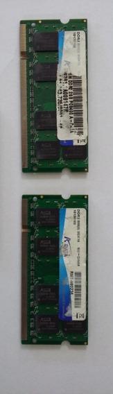 Memória Ram Notebook - 2gb.ddr2 - Kit X 2