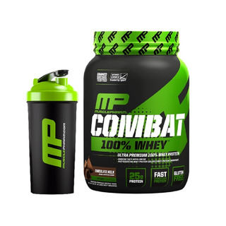 Combat 100% Whey 1,8kg Muscle Pharm + Coqueteleira