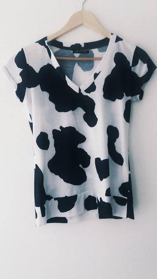 Remera Talle 1 2 Blanco Y Negro Similar Vaca