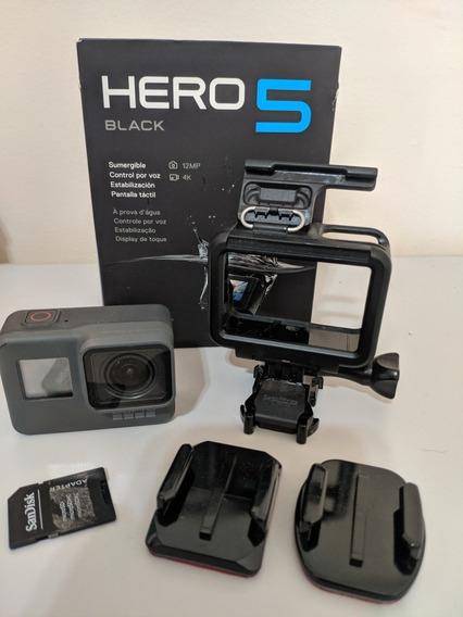 Gopro Hero 5 Black - Acessórios E Cartão De Memória 32 Gb