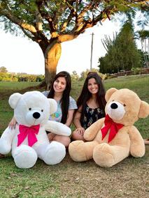 Urso Gigante Personalizado Toddy Bicho Pelúcia 110cm Brinde