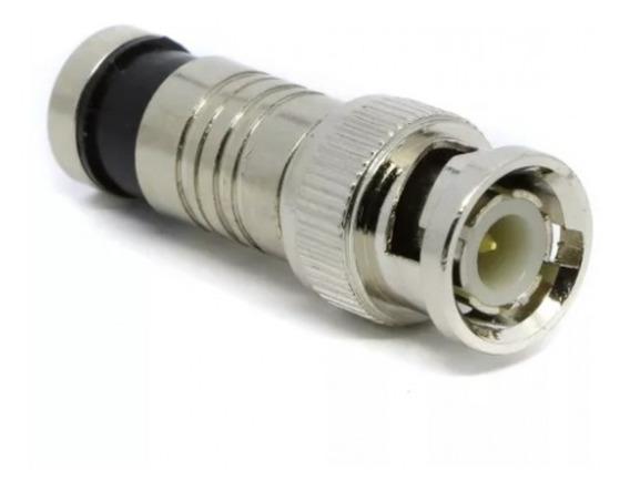 20pcs Conector Compressao Rg6 Bnc Macho Cftv Tv Camera Dvr