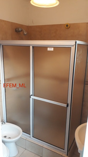 Mampara De Baño Ducha Acrílico Aluminio Corredizas 0.50 X 1
