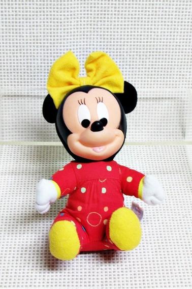 Minnie Baby Pelucia Multibrink Disney 18 Cm Bau8