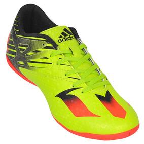 Chuteira Futsal adidas Messi 15.4 In S74701 Verde/laranja