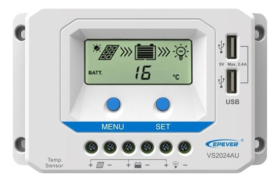 Viewstar-au Series (10-60a) Controlador De Carga Solar Pwm