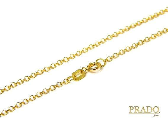 Corrente Portuguesa Maciça Em Ouro 18k 60cm 1,50mm