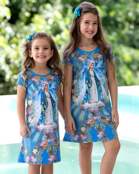 Vestido Infantil Nossa Senhora Das Graças