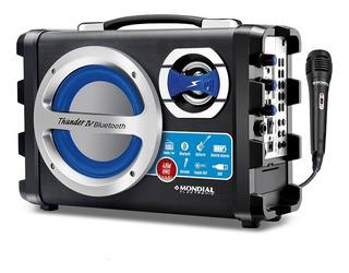 Parlante Portatil Karaoke Mondial 40w Bluetooth Microfono