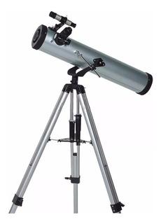 Telescopio Helios 70076 350x Montura Azimutal Lelab
