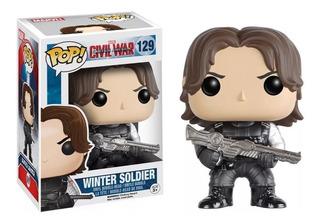 Funko Pop Marvel Civil War Winter Soldier #129