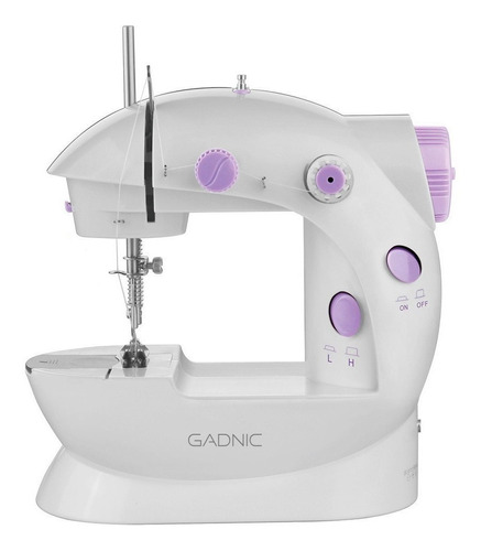Máquina de coser recta Gadnic MAQCOS04 portable blanca 220V