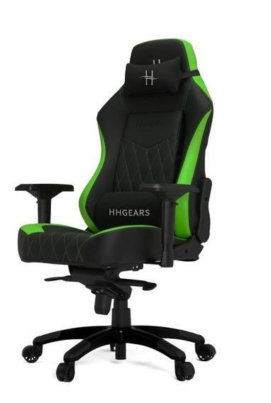 Silla Hhgears Xl-800 Gamer 4d Ergonómica Negro/verde