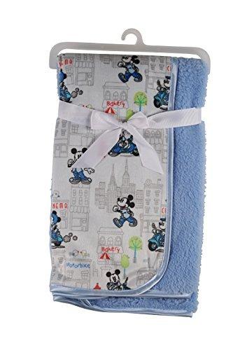Disney Mickey Mouse Y De Visón Sherpa Manta De Bebé De Dob