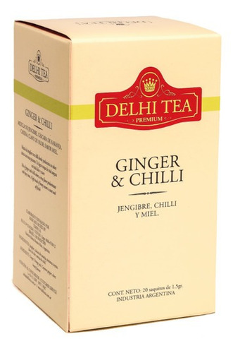 Te Premium Delhi Tea X 20 Saq. Ginger & Chilli