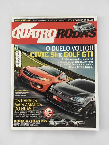 Revista Quatro Roda - Outubro 2014- Nº 662 Civic Si Golf Gti