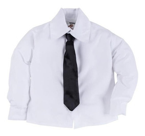 Camisa Infantil Social Masculino Com Gravata Festa Casamento