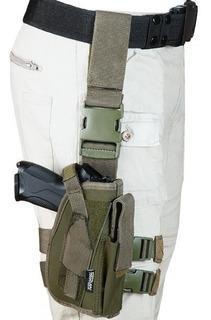 Funda Táctica Para Pistola Pernera M12 Verde