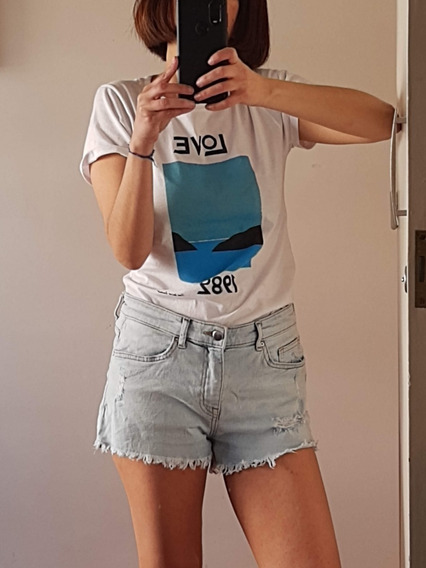 Short Jeans H&m Mujer Impecable Talle 36