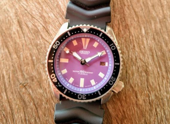 Relógio Seiko Diver 7002-700lr Lilás Perfeito Estado - Lindo